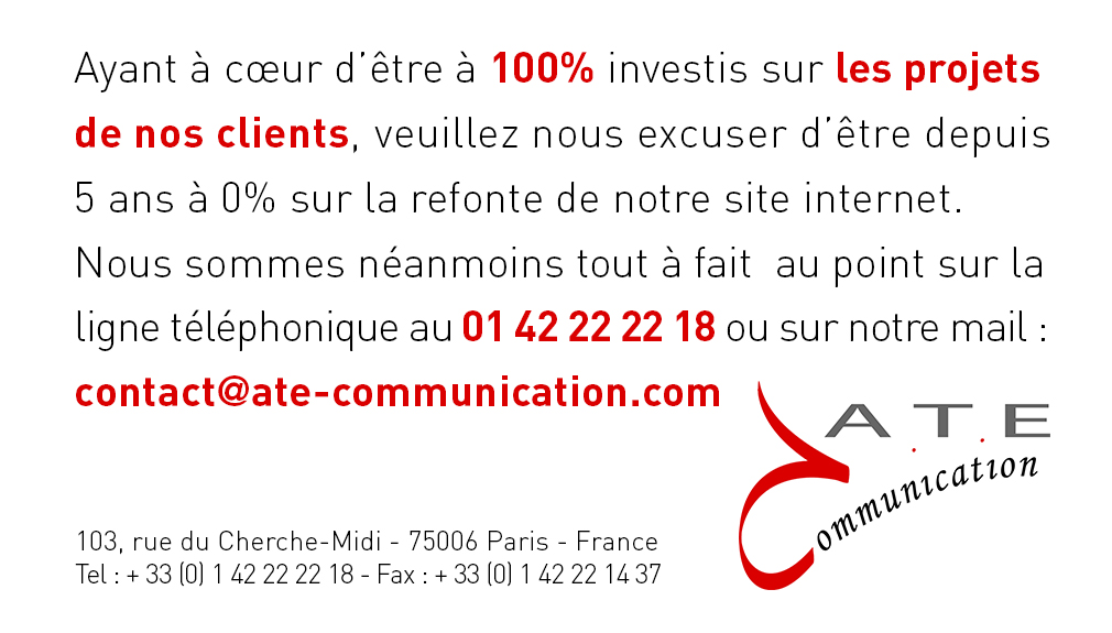 ATE communication - site en construction